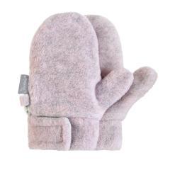 Mädchen Fäustlinge Handschuhe Fleece mit Klettverschluss, rosa grau mel. – 4301420