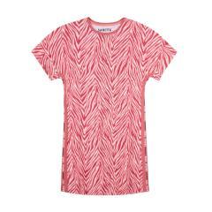 "Sanetta Mädchen Nachthemd kurzärmelig 100% Baumwolle ""zebraoptik"", rosa/pink – 244956"