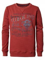 Jungen Pullover Jersey Sweatshirt Langarmshirt mit Aufdruck, rot - B-PS19-SWR380r