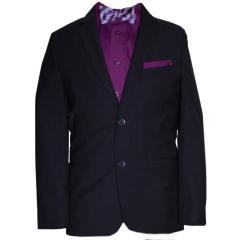 festlicher Jungen Anzug Klassisch mit Jacke und Hose, schwarz