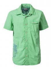 Jungen Hemd mit kurzen Ärmeln, grün - B-HS17-SIS476