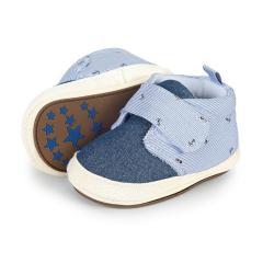Baby Jungen Schuhe Krabbelschuhe Klettverschluss, Ankermotiv, hellblau - 2301924