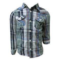 langarm Hemd für Jungen gestreift, grün