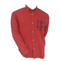 Langarmhemd Jungen, rot