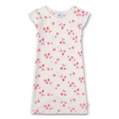 Mädchen Nachthemd, broken whi/ weiß pink Kirsche - 232399