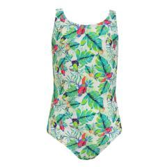 Badeanzug Mädchen Tropical, grün - 156114