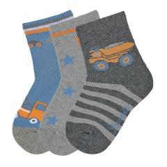 """Jungen Baby 3 Paar Söckchen Socken 3er-Pack """"Abschleppauto/LKW"""", anthrazit, blau- 8322021"""
