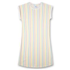 Mädchen Schlafshirt Nachthemd kurz Sommer gestreift, gelb - 245030