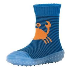 "Jungen Kinder Anti-Rutsch-Socken Adventure-Socks Socken-Schuh-Kombination ""Krabbe"", blau – 8362001"