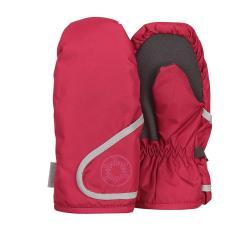 """Mädchen Fäustlinge Handschuhe wasserdicht mit reflektierendem Klettverschluss  und verstärkten Handflächen einfarbig """"Schneeflocke"""", rot - 4321802"""