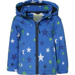 Outburst Jungen Softshelljacke Regenjacke Winddicht und Wasserdicht 10.000mm Wassersäule, blau ,Sterne 8476008