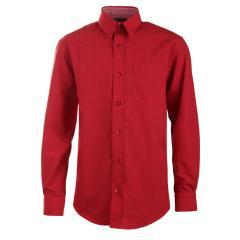 Jungen festliches Hemd langarm, rot - 5511900rot