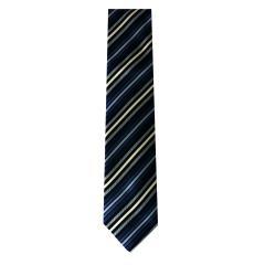Jungen Schlips Krawatte zum binden gestreift, blau - 4000
