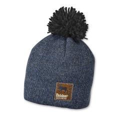 Jungen Mütze Beanie Strickmütze mit Bommel Outdoor, von Sterntaler, blau - 4621706