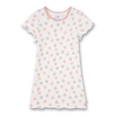 Mädchen Schlafmode Nachthemd, gepunktet ,weiß - 232569