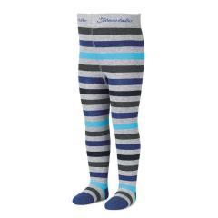 Jungen Strumpfhose mit Streifen von Sterntaler, blau-grau  - 8701700bg