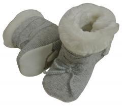 Baby Schuhe Mädchen, Grau - 9352