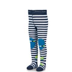 """Jungen Baby Krabbelstrumpfhose mit ABS und Po-Motiv """"Bagger"""", marineblau - 8652100"""