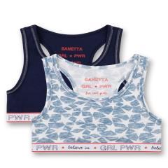 "Mädchen Teens Bustier 2er Pack, dunkelblau ""Sterne"" girlspower - 345557"