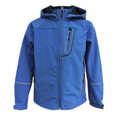 Jungen Softshelljacke mit Kapuze Regenjacke 10.000 mm Wassersäule, blau - 8474405