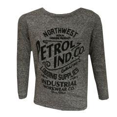 Jungen Langarm T-Shirt melliert, Grau