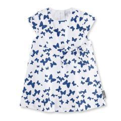 """Mädchen Baby Kleid, UV-Schutz 30, gefüttert, dunkelblau weiß """"Schmetterlinge"""" - 2851901"""