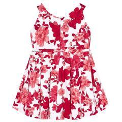 Mayoral Festkleid Trägerkleid mit Blumenmuster, rot - 3.914r