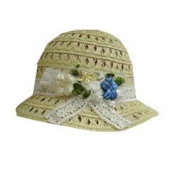 Sommerhut Strohhut festlicher Hut Mädchen, beige