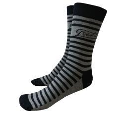 Jungen Socken gestreift, dunkelblau- grau
