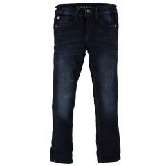 Jungen Jeans Hose Garcia Baumwolljeans 370 Xevi superslim fit mit verstellbarem Bund, dunkelblau used - 370-3086