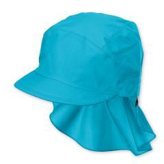 Jungen Mädchen Kinder Schirmmütze LSF UV-Schutz 50+ Sommermütze Schildmütze mit Nackenschutz, einfarbig türkis – 1531430