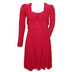 Festliches Kleid Mädchen mit Bolero, rot