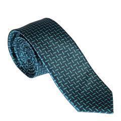 Jungen Schlips Krawatte zum binden gemustert, türkis - 9982300petrol