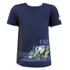 Jungen T-Shirt Kurzarm-Shirt Traktor, dunkelblau - 73112148