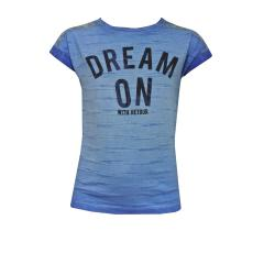 Mädchen Kurzarmshirt T-Shirt Dream on, blau - RGB-71-267