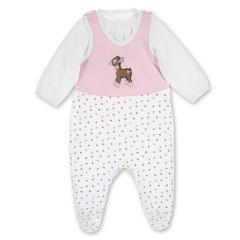 """Baby Mädchen Jersey Strampler mit Pulli von Sterntaler """"Waldis Rosie"""", weiß rosa - 2601737"""