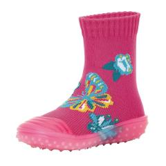 "Mädchen Anti-Rutsch-Socken Adventure-Socks Socken-Schuh-Kombination ""Schmetterlinge"", pink - 8362003"