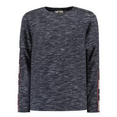 T-Shirt langarm Jungen mit Armstreifen, grau - A93401_boys T-shirt