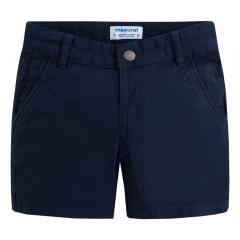 Kurze Hose Bermuda Jungen aus strukturiertem Stoff, marineblau - 3268