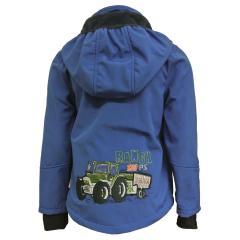 Jungen Softshelljacke Regenjacke winddicht und wasserfest Traktor, blau - 8422109/