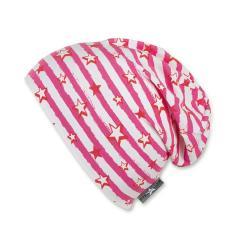 Mädchen Sommermütze Slouch-Beanie, UV-Schutz 50+, rosa weiß - 1521902