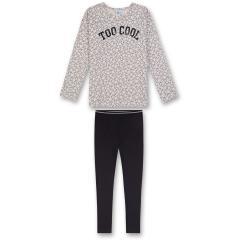 Mädchen Schlafanzug Pyjama mit Sternen, Creme - 244330