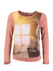 Langarmshirt Mädchen Mädchen-Motiv, rost - X62405