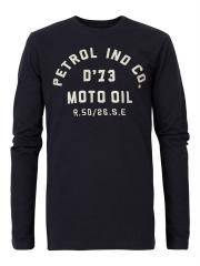 Jungen T-Shirt Langarmshirt mit aufgenähten Buchstaben in weiß, blau - B-FW18-TLR656