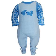 Babystrampler Jungen, hellblau