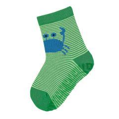 """Jungen Anti-Rutsch-Socken Fliesen Flitzer Sun """"Krabbe"""", waldgrün - 8022004"""