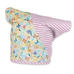 Tuchmütze Kopftuch für Mädchen Blumen und Streifen, rosa - 1451705