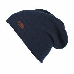 Jungen Mütze Strickmütze Slouch-Beanie, marineblau - 4521806