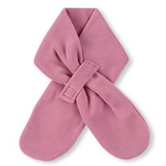 Mädchen Baby Winter-Schal Microfleece mit Klettverschluss einfarbig, helllila - 4201400