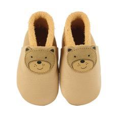 """Baby-Schuhe Jungen Mädchen Krabbelschuhe aus 100% Leder mit Gummizug """"Teddy"""", beige - 5201904"""